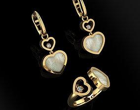 Ring and Earrings 121 3D printable model