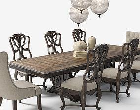 3D Hooker Furniture Dining Room Rhapsody