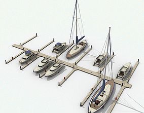 3D model Piers and yachts