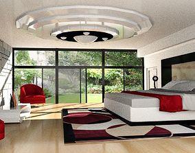 3D model low-poly Modern Bedroom
