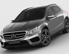 3D model Mercedes GLA AMG package