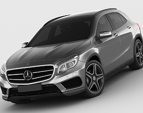 3D model Mercedes GLA AMG package