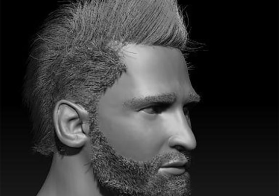 Messi's 3D character likeness