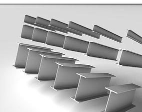 Metal Beam IPE 3D model