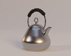 3D asset Modern Design Metal Teapot
