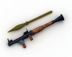 3D asset Rocket Launcher RPG-7