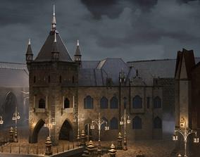 3D asset Bloodborne style Victorian Church
