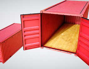 3D Cargo Industrial Container