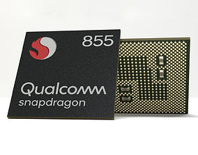 3D model Photorealistic Mobile Chip - Snapdragon 855