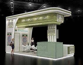 3D Exhibition stall 7x3Mtr Three Side open