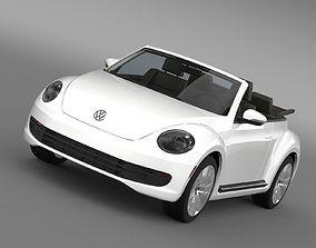VW Beetle TDI Cabrio 2014 3D model