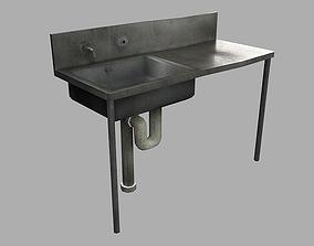 3D asset Old Sink