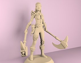 3D printable model medieval warrior woman
