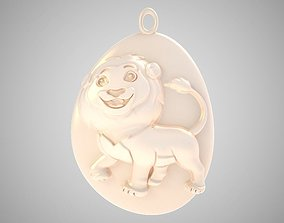 3D printable model Rock Lion Necklace