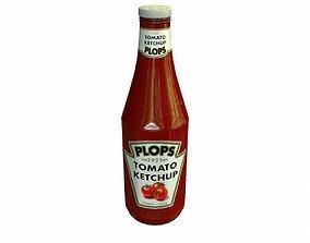 Ketchup 3D model realtime