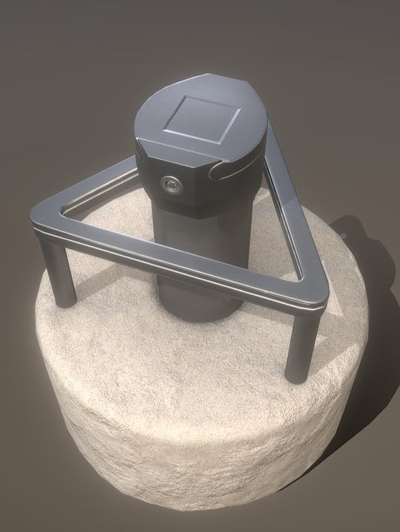 Groundwater Measuring Point 3 Low-Poly (Blender-2.91)