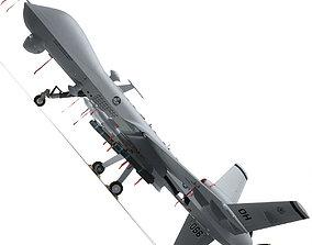 MQ-9 Reaper Military Aircraft Drone 3D