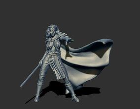 Jedi woman 35mm scale - 3D print model