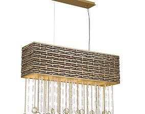 Chandelier Lucia Tucci Perso 4930-6 Gold and Black 3D