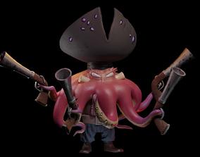 3D model Crash Bandicoot Octopus pirate