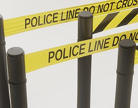 3D asset VR / AR ready Police Line