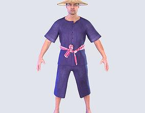 thai 3D Thai Farmer Man