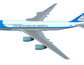 Air Force One Aerial Scene 3D model