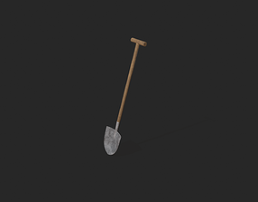 3D asset game-ready Shovel