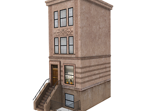Low poly new york building 3D model