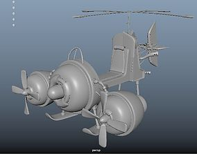 cartoon 3D model Airship