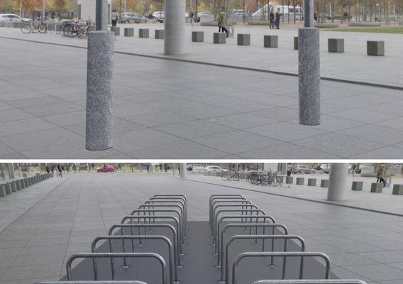 Steel Bracket Bike Stand -3- Low-Poly Version