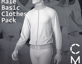 Male basic clothes pack Marvelous Clo 3D zprj projects