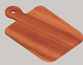 3D asset low-poly PBR Wooden chopping board