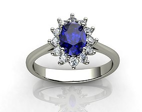 gold Princess Diana Ring 3D printable model