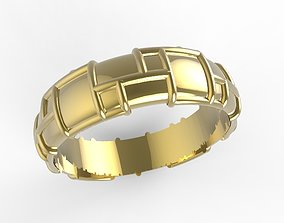 single wedding ring 3D printable model