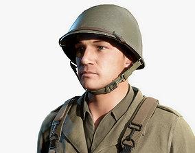 3D asset WW2 US Soldier