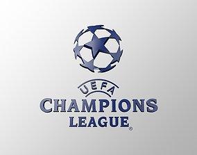 UEFA Champions League 3D LOGO low-poly
