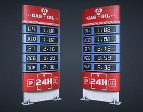 3D model Fuel Price Display