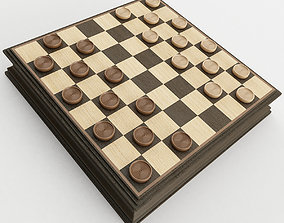 Checkers sports 3D model