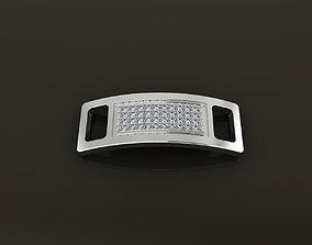 LACE LOCK DIAMOND CLUSTER CLIP TAG 3D printable model 1