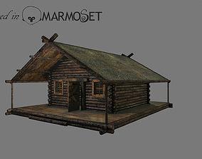 Wooden house model 3D asset