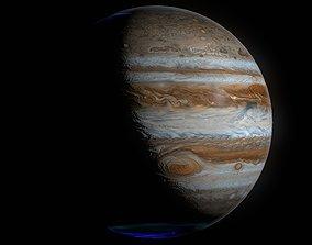 Hyperrealistic 4k Jupiter 3D model