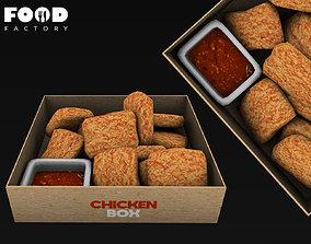 Chicken nuggets mesh 3D asset