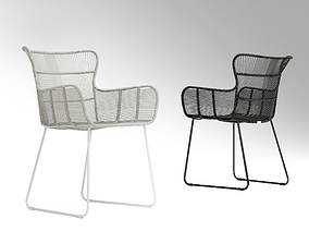 3D Coco Republic Amalfi outdoor dining chair