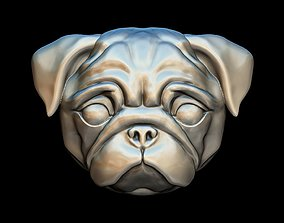 Pug dog pendant 3D printable model