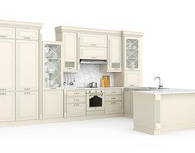 3D Kitchen VERONA-mobili UNICA with technique SMEG