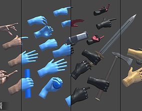 3D asset Realistic Hands - animated for VR