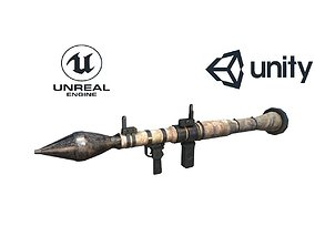 Low Poly Fabric Covered Anti Tank RPG 3D model