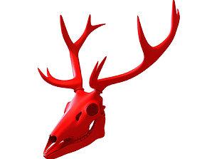 3D Printable Deer Skull