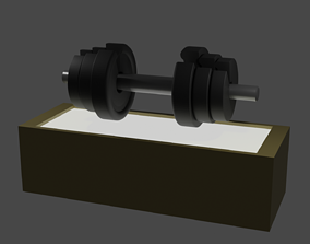 Adjustable Dumbbell 3D